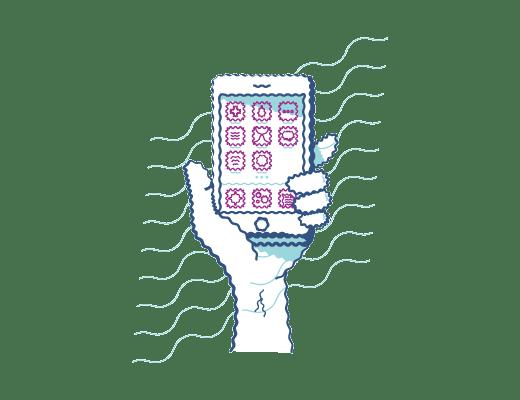 Icône d'un téléphone cellulaire.
