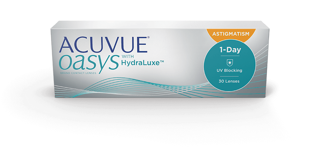 ACUVUE® OASYS 1-Day with HydraLuxe® Technology for ASTIGMATISM