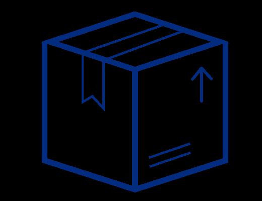 icône d'emballage minimal et durable