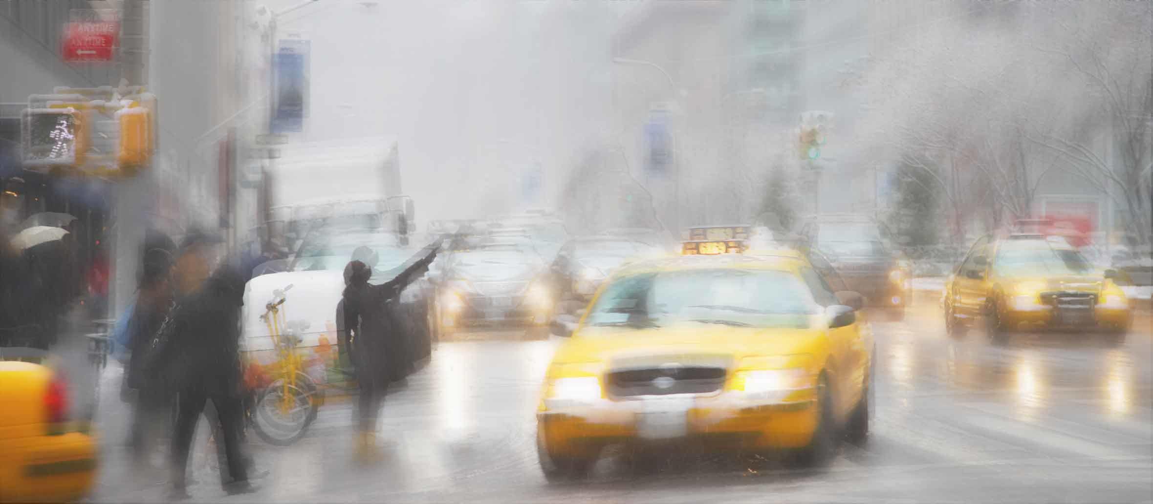 Une journée mouvementée et pluvieuse en ville